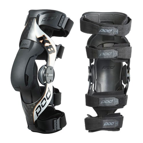 POD K8 V2 Pair Knee Brace - Black