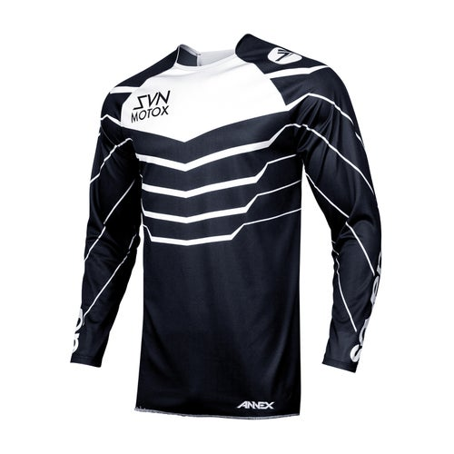 Seven 19.1 Annex Exo Black Motocross Jerseys - Black White
