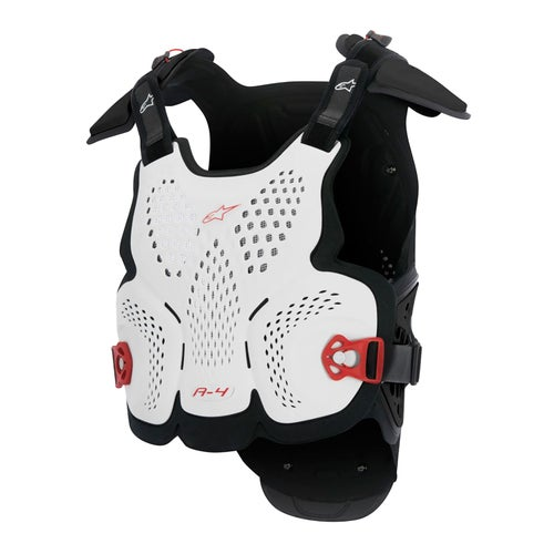 Alpinestars A4 MX Motocross Chest Protector , Overkroppsbeskyttelse - White