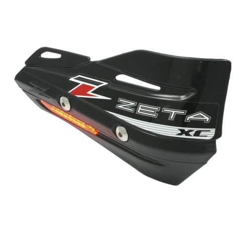 Zeta ArmorGuard XC Protectors With Flasher Enduro and MX Hand Guard - Black
