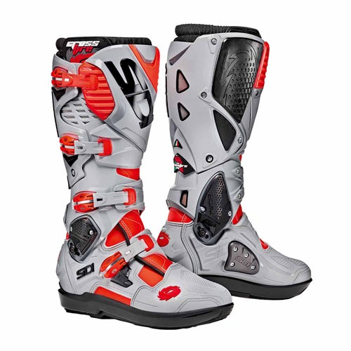 Sidi Crossfire 3 SRS Motocross Boots - Flou Red Grey Ash