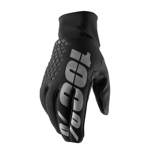 100 Percent Hydromatic Brisker Motocross Gloves - Black