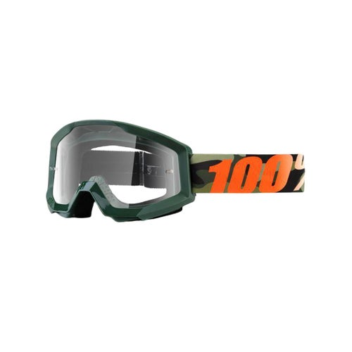 100 Percent Strata Huntsitan MX Brillen - Black Orange ~ Clear Lens