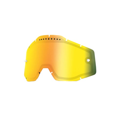 100 Percent Dual Vented Motocross Goggle Lense - Mirror Gold Vented Dual