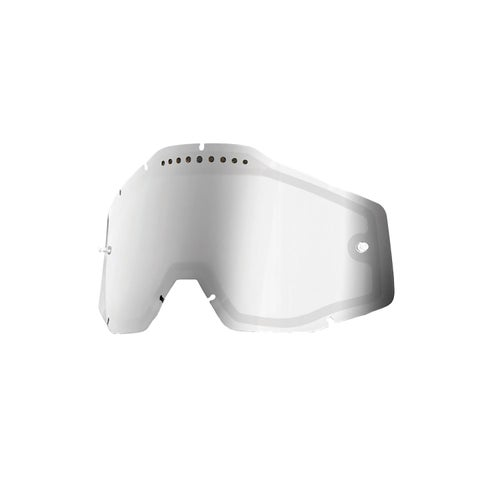 100 Percent Dual Vented MX Goggle Lens - Mirror Silver Vented Dual