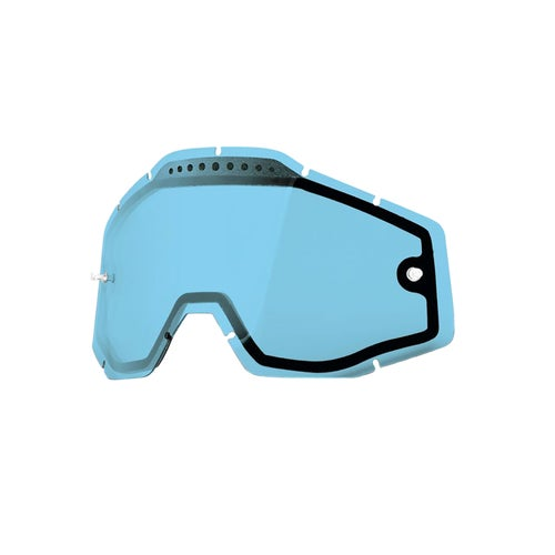 100 Percent Dual Vented Motocross Goggle Lense - Blue Vented Dual