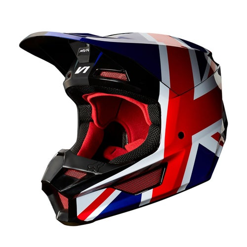 Fox Racing V1 LE MXon GB Motocross Helmet - Red Black