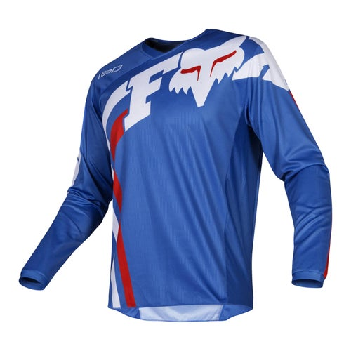 Fox Racing 180 Cota Jersey , MX-trøye - Blu