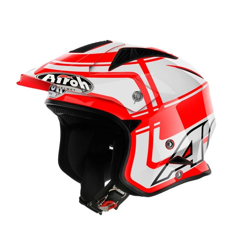 Airoh TRR S Wintage Trials Helmet - Red Gloss