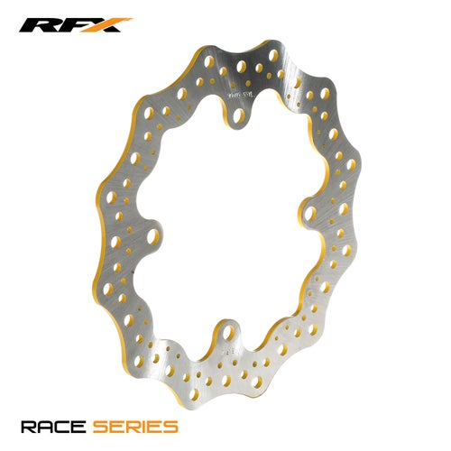 RFX Race Rear Disc Yellow Suzuki RMZ250 0717 RMZ450 05 Brake Disc - Yellow