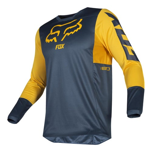 Fox Racing 180 Przm Motocross Jerseys - Nvy/ylw