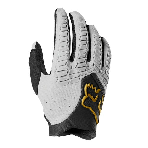 Fox Racing Pawtector Motocross Enduro Motocross Gloves - White Black Gold
