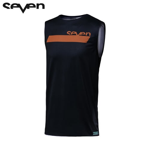 Camisola MX Seven 182 Zero Neo Motocross Over Vest Jersey - Navy Orange