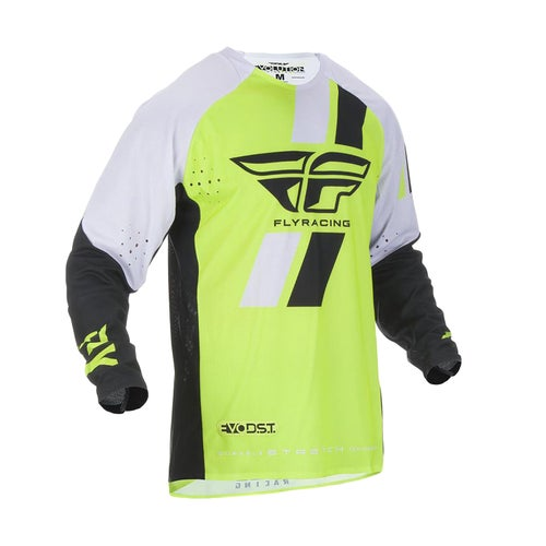 Fly Evolution Dst Jersey Motocross Jerseys - Hi-vis Black White
