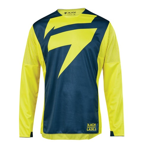 Shift 3Lack label Mainline Enduro MX Jersey - Yellow Navy