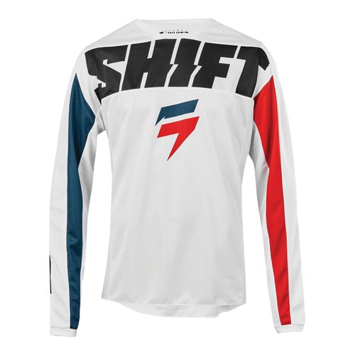 Shift Whit3 Label York Enduro and MX Jersey - White