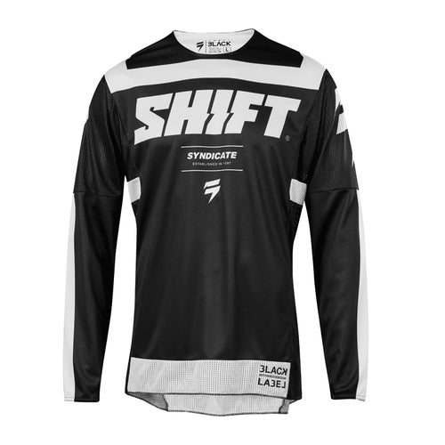 Shift 3Lack label Strike Enduro MX Jersey - Black
