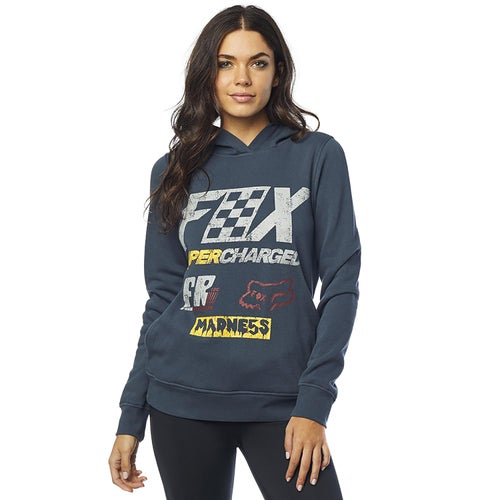 Fox Racing Supercharged Womens Pullover Hoody - Navy