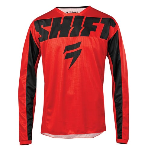 Shift Whit3 Label York Enduro and MX Jersey - Red
