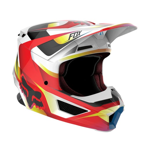 Fox Racing V1 Matte Motocross Helmet - Red White