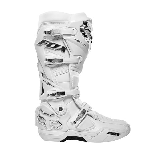 Fox Racing Instinct , MX-støvler - White Silver