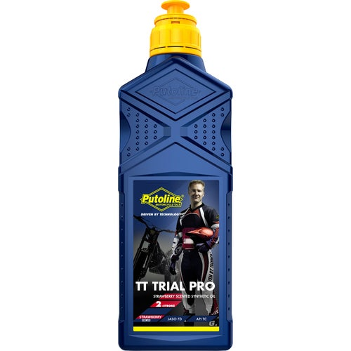 Putoline Tt Trial Pro Strawberry 1 Ltr 2 Stroke Oil Mix - Clear