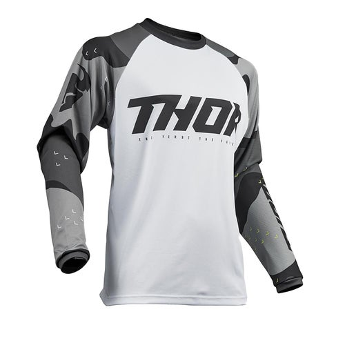 Thor Sector MX Motocross and Enduro Motocross Jerseys - Grey Camo