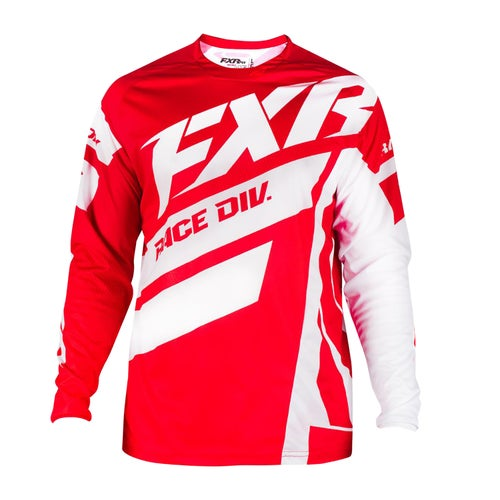 FXR Clutch Podium Motocross Jerseys - Maroon/red Fade/white