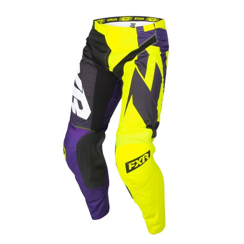 FXR Clutch Podium Motocross Pants - Purple/black Fade/hivis