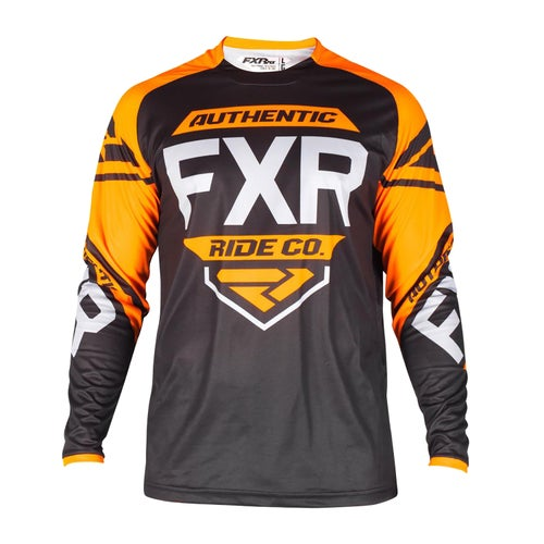 FXR Clutch Retro Mikina pro MX - Black/orange/lt Grey