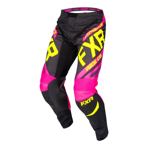 FXR Clutch Retro Motocross Pants - Black/fuchsia/hivis