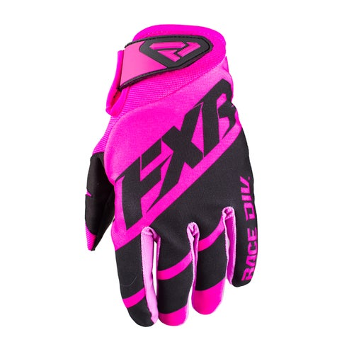 FXR Clutch Strap Motocross Gloves - Elec Pink/black