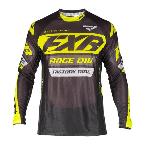 FXR Revo Motocross Jerseys - Black/char/hivis/grey