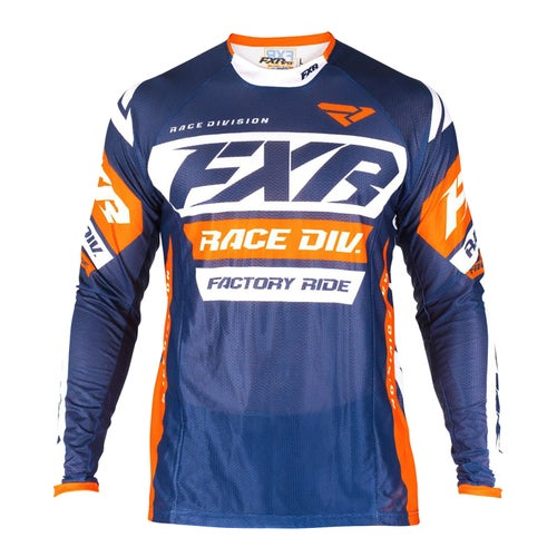 FXR Revo Motocross Jerseys - Dark Navy/white/orange