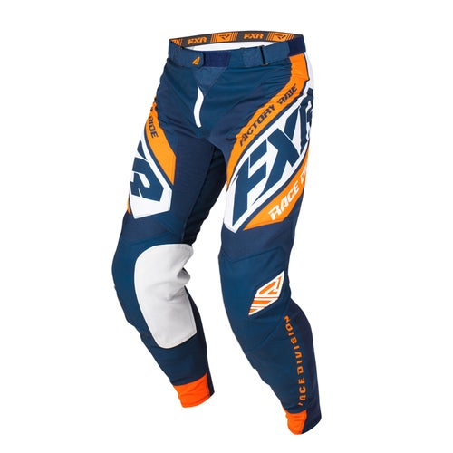 FXR Revo Motocross Pants - Dark Navy/white/orange