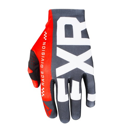 FXR Slip On Lite Motocross Gloves - Black/red/white