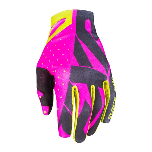 FXR Slip On Lite Motocross Gloves - Elec Pink/black/hi Vis