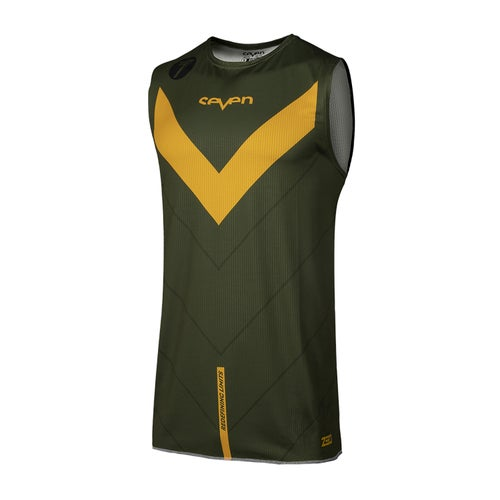 Camisola MX Seven 19.1 Zero Victory Over - Olive Orange