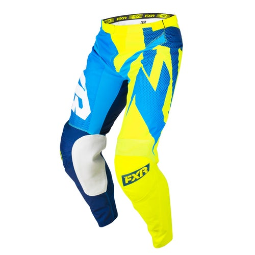 FXR Clutch Podium Motocross Pants - Navy/blue Fade/hivis