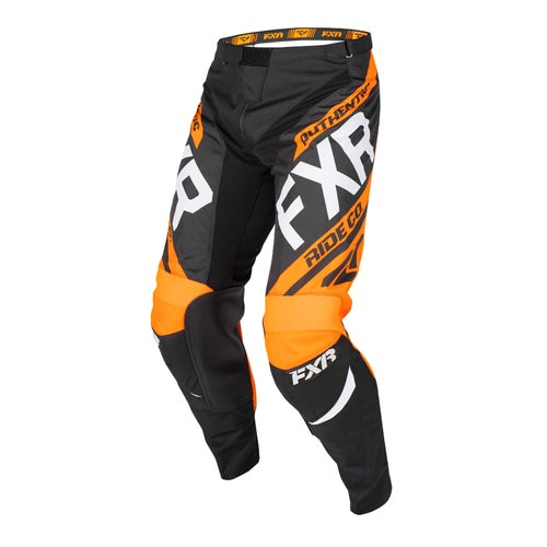 FXR Clutch Retro Motocross Pants - Black/orange/lt Grey