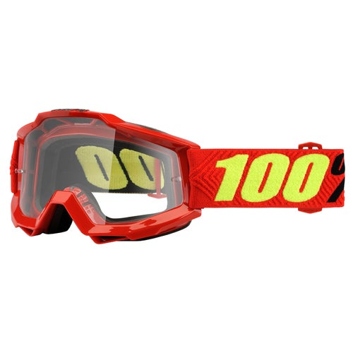 100 Percent Accuri Motocross Goggles - Saarinen ~ Clear Lens