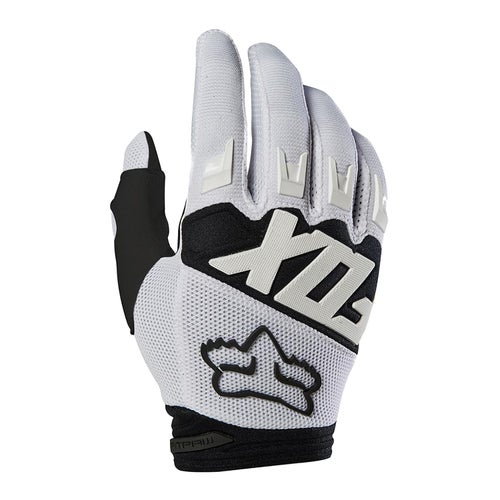 Fox Racing Dirtpaw Race Enduro Boys Motocross Gloves - White