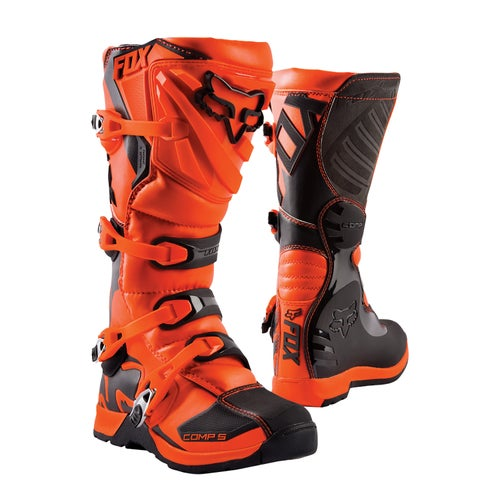 Fox Racing Comp 5 YOUTH Boys Motocross Boots - Orange