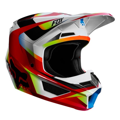 Fox Racing V1 Motif MX YOUTH Motocross Helmet - Red White
