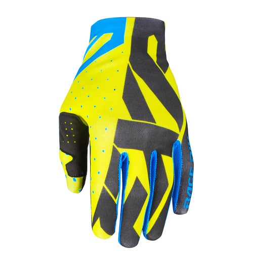 FXR Slip On Lite Motocross Gloves - Hi Vis/black/blue