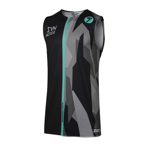 Camisola MX Seven 19.1 Zero Raider Over - Black Aqua