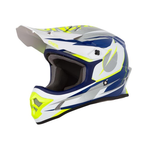Casco MX O Neal 3series Helmet Riff - Blue