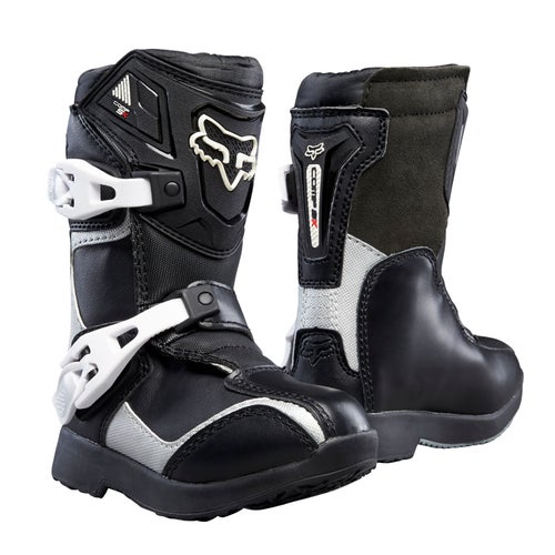 Fox Racing Comp 5k Pee Wee Boys Motocross Boots - Black Silver