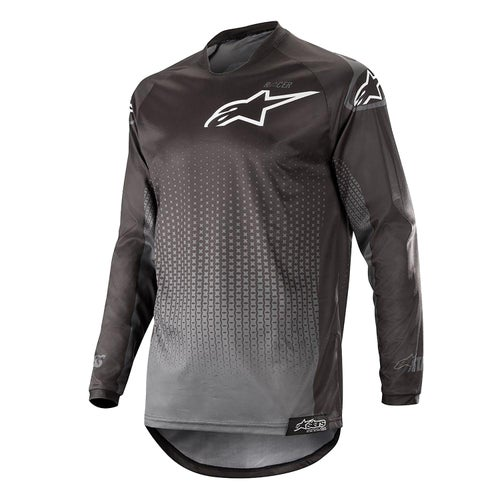 Alpinestars Racer Graphite Motocross Jerseys - Black Anthracite