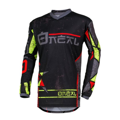O Neal Element Zen Motocross Jerseys - Neon Yellow